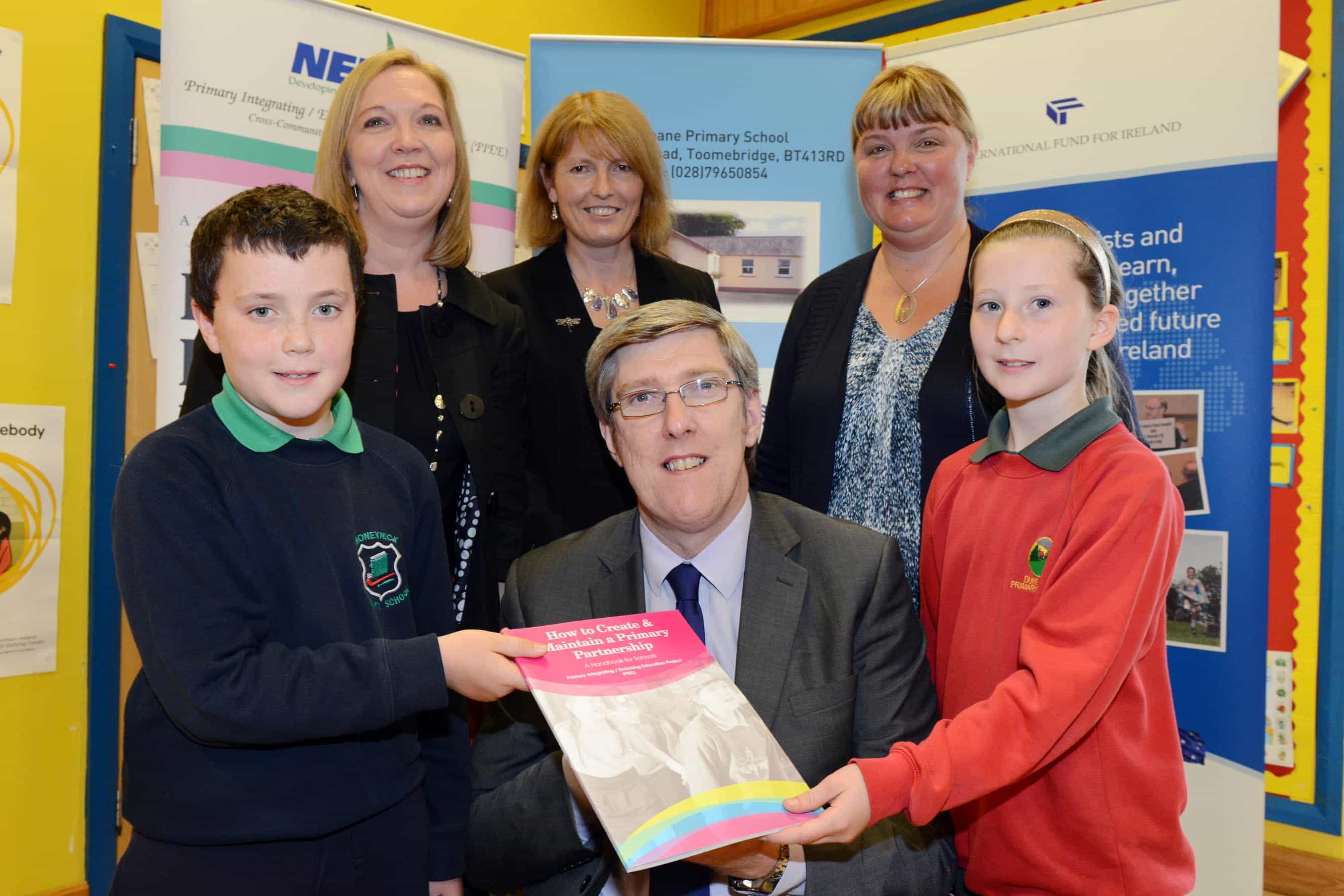 Education Minister hails shared approach between County Antrim primary schools