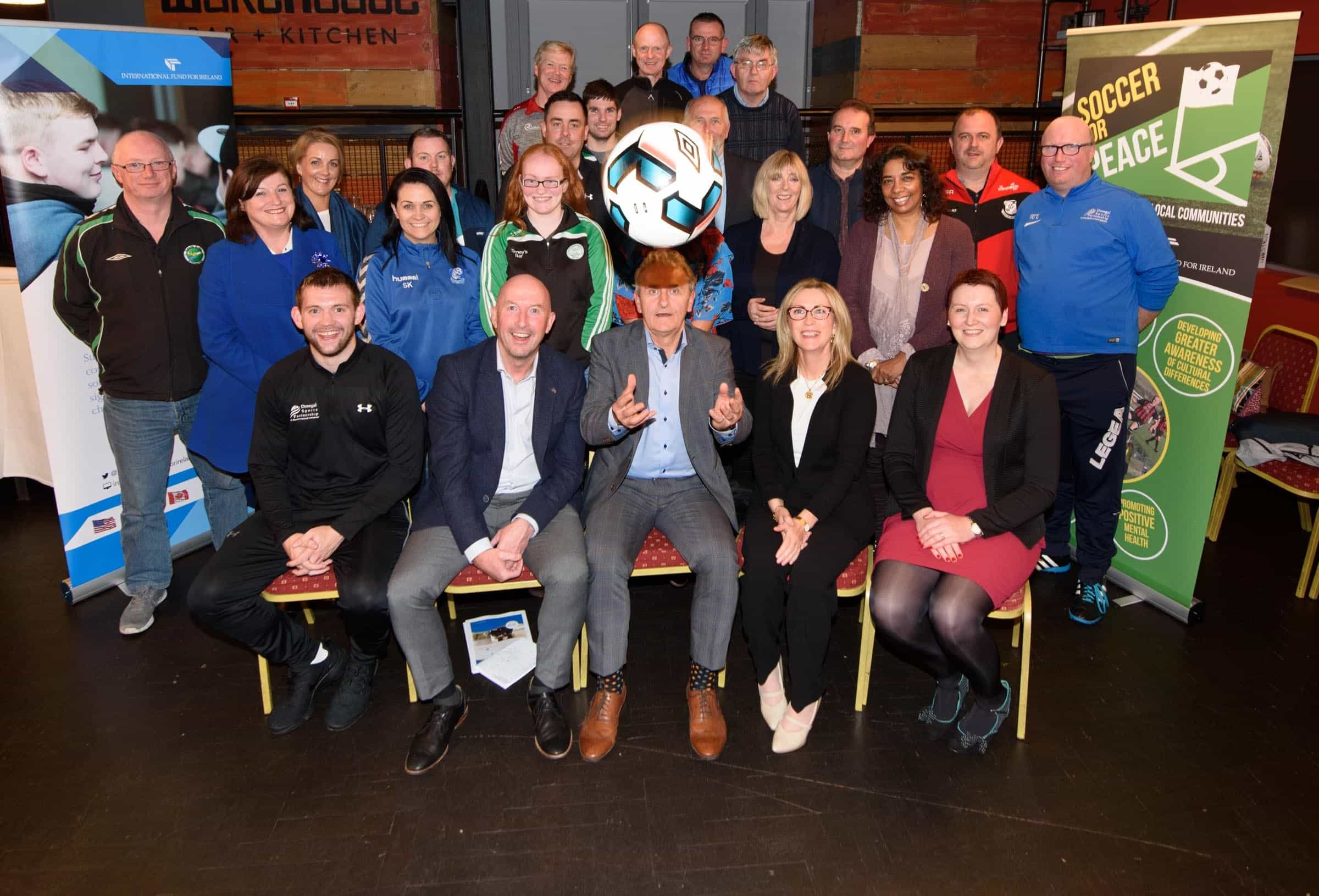 Donegal Sports Partnership Launch Soccer for Peace Project