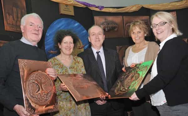 Copper craft exhibition in support of peace and reconciliation